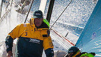 FRANCE,  Point Penmarc'h. 1st July 2012. Volvo Ocean Race, Leg 9 Lorient-Galway. Andrew Cape, Navigator, Team Telefonica.