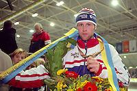 SCHAATSEN: Ids Postma WK Afstanden Thialf 1999, ©foto Martin de Jong