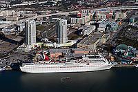 aerial photograph Carnival Cruise ship berthed Tampa Florida