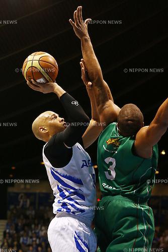 JR Sakuragi (AISIN),<br /> MAY 25, 2015 - Basketball : <br /> National Basketball League &quot;NBL&quot; Playoff FINALS 2014-2015 <br /> GAME 3 match between <br /> TOYOTA ALVARK TOKYO 69-81 AISIN SeaHorses Mikawa<br /> at 2nd Yoyogi Gymnasium, Tokyo, Japan. <br /> (Photo by Shingo Ito/AFLO SPORT)