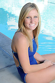 Stock photo of competitive swimmer