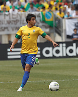 Brazil defender Rafael Silva (2) looks to pass. In an international friendly (Clash of Titans), Argentina defeated Brazil, 4-3, at MetLife Stadium on June 9, 2012.