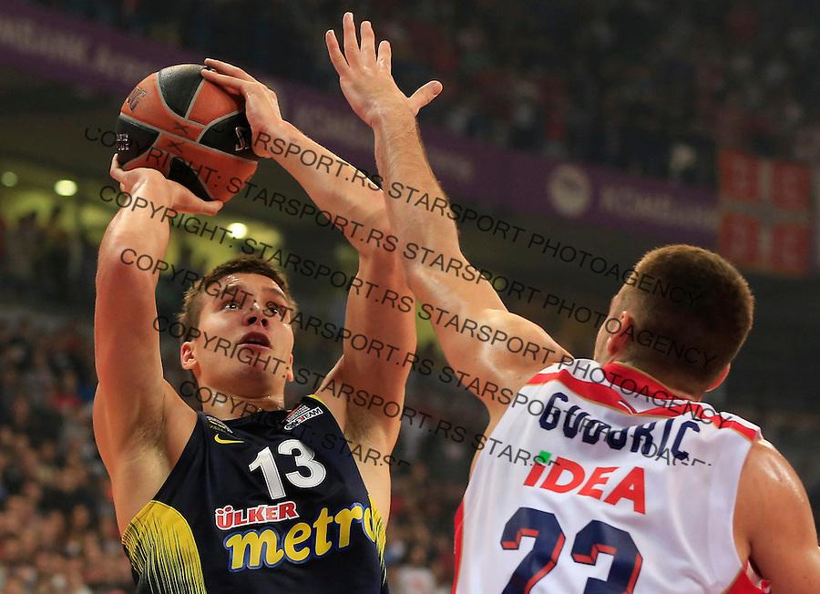 Kosarka Euroleague season 2015-2016<br /> Euroleague <br /> Crvena Zvezda v Fenebahce Istanbul<br /> Bogdan Bogdanovic (L) and Marko Guduric<br /> Beograd, 06.11.2015.<br /> foto: Srdjan Stevanovic/Starsportphoto &copy;