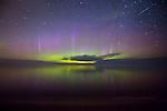 Aurora and Perseid over Lake Superior Marquette MI