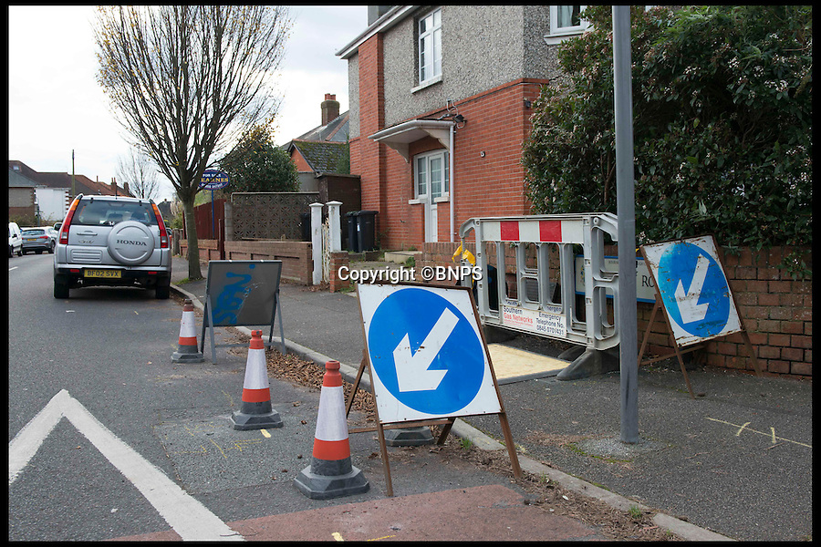 BNPS.co.uk (01202 558833)<br /> Pic: LauraDale/BNPS<br /> <br /> The street where Ed discovered the gas leak, now clearly marked.<br /> <br /> A man who hasn't been able to smell properly for 20 years, sniffed out a gas leak after a kick to the head during a rugby game restored his lost sense.<br /> <br /> Ed Baker received a size 12 boot to the face when he was playing rugby, which broke his nose.<br /> <br /> But as the swelling went down a week later he realised something was different - he could breathe better for the first time in years.
