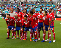Costa Rica is introduced prior to the Concacaf Gold Cup, the final score of this match was 1-1