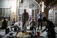 Evening prayers at a mosque near Vakil Bazaar.