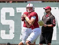 Stanford, CA - April15, 2017:  Ryan Burns at Cagan Stadium.