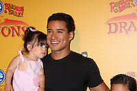 LOS ANGELES - JUL 12:  Mario Lopez and daughter arrives at 'Dragons' presented by Ringling Bros. & Barnum & Bailey Circus at Staples Center on July 12, 2012 in Los Angeles, CA