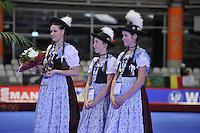 SPEED SKATING: INZELL: 04-12-2015, Max Aicher Arena, ISU World Cup, Podium, Team Pursuit Men, Prize Ceremony, ©foto Martin de Jong