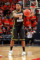 CHARLOTTESVILLE, VA- DECEMBER 6: Sherrod Wright #10 of the George Mason Patriots handles the ball during the game on December 6, 2011 against the Virginia Cavaliers at the John Paul Jones Arena in Charlottesville, Virginia. Virginia defeated George Mason 68-48. (Photo by Andrew Shurtleff/Getty Images) *** Local Caption *** Sherrod Wright