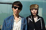 Stylish young couple shopping on Abbot Kinney Blvd. in Venice
