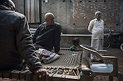 53 year old, Badrinath Singh, (right) father of the rape victim seen outside his ancestral house in Medawar Kalan in Ballia district of Uttar Pradesh, India. Photo: Sanjit Das/Panos for Der Spiegel