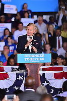 CORAL SPRINGS, FL - SEPTEMBER 30: Sen. Bill Nelson (D-FL) speaks before the arrival of Democratic presidential candidate Hillary Clinton during a campaign rally at Coral Springs Gymnasium on September 30, 2016 in Coral Springs, Florida. Clinton continues to campaign against her Republican opponent Donald Trump before election day on November 8th.  Credit: MPI10 / MediaPunch