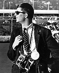 Ron Bennett News Photographer with Rolleiflex a medium format twin lens (TLR) camera,