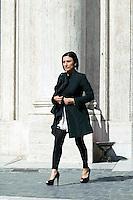 Roma 16 Marzo2013.<br /> Montecitorio, secondo giorno della  XVII legislatura..Alessia Morani, deputata del Partito Democratico.