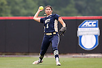 12 May 2016: Pitt's Morgan Choe. The Florida State University Seminoles played the University of Pittsburgh Panthers at Dail Softball Stadium in Raleigh, North Carolina in a 2016 Atlantic Coast Conference Softball Tournament quarterfinal game. Florida State won the game 8-0 by run rule with one out in the bottom of the sixth inning.
