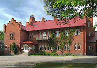 Old Building of Jäneda Manor House in Järva County, Estonia