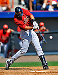7 March 2011: Houston Astros' outfielder J.D. Martinez cracks his bat during a Spring Training game against the Washington Nationals at Space Coast Stadium in Viera, Florida. The Nationals defeated the Astros 14-9 in Grapefruit League action. Mandatory Credit: Ed Wolfstein Photo