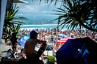 COOLANGATTA, Queensland/Australia (Saturday, February 28, 2015) - The world's best surfers began competition  on Australia's Gold Coast today in the opening stop of the 2015 World Surf League (WSL)  Championship Tour (CT) season, the Quiksilver and Roxy Pro Gold Coast. The event got underway today at 8 a.m. local time with Men's Round 1 followed by Women's Round 1.<br /> <br /> Reigning WSL Champions and defending event winners Gabriel Medina (BRA) and Stephanie Gilmore (AUS) both competed in Round 1 today. Medina will face rookie compatriot Wiggolly Dantas (BRA) and event wildcard Dane Reynolds (USA), in Men's Round 1 Heat 6, while Gilmore faces a returned-to-form Silvana Lima (BRA) and Bronte Macaulay (AUS), (winner of the Trials) in Women's Round 1 Heat 3. Medina was successful in his heat with Gilmore lost to Lima and will surf in Round 2.<br /> -  Photo: joliphotos.com