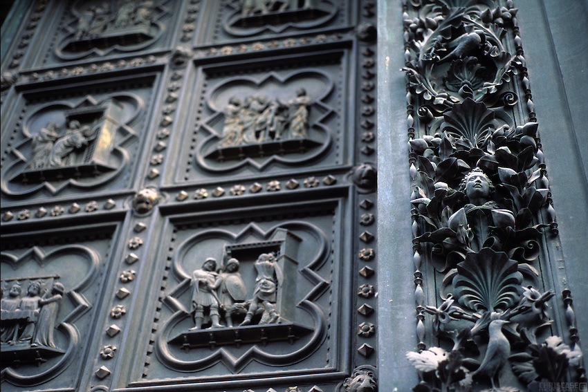 The Doors of the Baptistery in Florence Italy