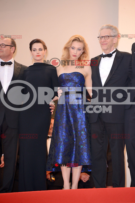 "Sarah Gadon and David Cronenberg attending the ""Cosmopolis"" Premiere during the 65th annual International Cannes Film Festival in Cannes, France, 25.05.2012...Credit: Timm/face to face /MediaPunch Inc. ***FOR USA ONLY***"
