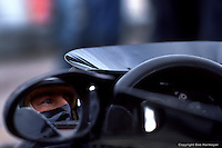 BOWMANVILLE, ONT - OCTOBER 9: Mario Andretti waits to drive the Lotus 78 R3/Ford Cosworth DFV during practice for the Canadian Grand Prix on October 9. 1977, at Mosport Park near Bowmanville, Ontario.