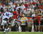 Ole Miss quarterback Barry Brunetti (11) runs 11 yards for a 4th quarter touchdown vs. Central Arkansas at Vaught-Hemingway Stadium in Oxford, Miss. on Saturday, September 1, 2012.