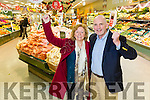 Marie Hartnett, Listowel winner of the Kerry's Eye Garveys  Shopping Competition, was presented with her €1000 shopping card at  Garveys SuperValu, Listowel on Tuesday here with  Brendan Kennelly, Marketing Manager, Kerry's Eye