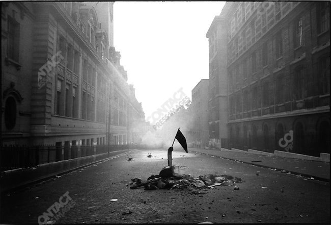 Aftermath of student riots at the Sorbonne University, rue Saint Jacques, Paris, France, June 10, 1968