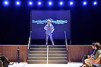 Senorita AweSumo, New Zealand Eco Fashion Exposed Maintain &amp; Sustain at Notre Dame Performing Arts Centre, Lower Hutt, New Zealand on Friday 25 July 2014. <br /> Photo by Masanori Udagawa. <br /> www.photowellington.photoshelter.com.