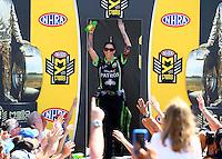 Jun 12, 2016; Englishtown, NJ, USA; NHRA funny car driver Alexis DeJoria during the Summernationals at Old Bridge Township Raceway Park. Mandatory Credit: Mark J. Rebilas-USA TODAY Sports