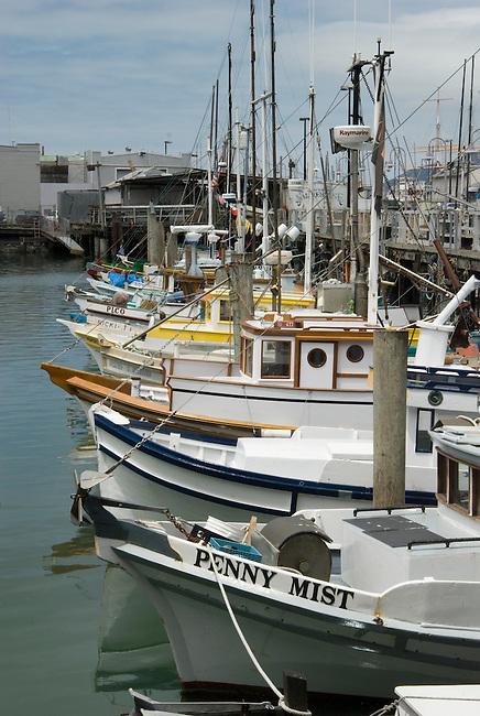 Fishing boats docked at Fisherman's wharf, San Francisco