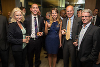 Left to right are Sara Holland from Potter Clarkson, Mark Flanagan of KPMG, Joanna Deas of Potter Clarkson, David Clarke of Clarke Associates and Richard Stanley of Smith Cooper
