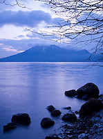 Lake Shikotsu in Shikotsu-T?ya National Park, a national park in the central part of the island of Hokkaid?, Japan