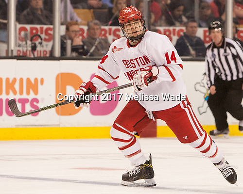 Bobo Carpenter (BU - 14) - The Harvard University Crimson defeated the Boston University Terriers 6-3 (EN) to win the 2017 Beanpot on Monday, February 13, 2017, at TD Garden in Boston, Massachusetts.