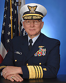 """Admiral Robert J. Papp, Jr. assumed the duties of the 24th Commandant of the U.S. Coast Guard on May 25, 2010. He leads the largest component of the Department of Homeland Security (DHS), comprised of 42,000 active duty, 8,200 Reserve, 8,000 civilian and 31,000 volunteer Auxiliarists.  The Coast Guard is """"Semper Paratus"""" – Always Ready – to use its distinctive blend of military, humanitarian and law enforcement capabilities to save lives and property at sea, protect and maintain our ports and maritime transportation system, secure our borders, respond to natural disasters, protect our marine environment and defend our Nation. The Coast Guard is also America's oldest continuous seagoing service and one of the Nation's five armed services. We trace our history back to August 4th, 1790, when the first Congress authorized the construction of ten vessels to enforce tariff and trade laws and to prevent smuggling. Our people are committed to the Coast Guard's core values of Honor, Respect and Devotion to Duty. As a flag officer, Admiral Papp served as Commander, Coast Guard Atlantic Area, where he was operational commander for all U.S. Coast Guard missions within the eastern half of the world and provided support to the Department of Defense; as the Chief of Staff of the Coast Guard and Commanding Officer of Coast Guard Headquarters; as Commander, Ninth Coast Guard District, with responsibilities for Coast Guard missions on the Great Lakes and Northern Border; and as Director of Reserve and Training where he was responsible for managing and supporting 13,000 Coast Guard Ready Reservists and all Coast Guard Training Centers.  Admiral Papp has served in six Coast Guard Cutters, commanding four of them: RED BEECH, PAPAW, FORWARD, and the training barque EAGLE. He also served as commander of a task unit during Operation ABLE MANNER off the coast of Haiti in 1994, enforcing United Nations Sanctions. Additionally, his task unit augmented U.S. Naval Forces during Op"""