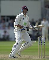 Photo Peter Spurrier.31/08/2002.Cheltenham & Gloucester Trophy Final - Lords.Somerset C.C vs YorkshireC.C..Somerset batting;   Andy Caddick.