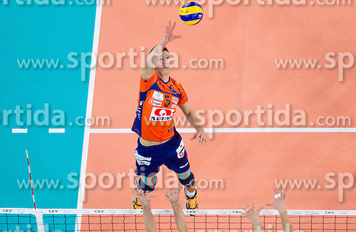 Alen Sket of ACH during volleyball match between ACH Volley and Lube Banca Marche Macerata (ITA) in 5th Leg of Pool D of 2013 CEV Champions League on December 5, 2012 in Arena Stozice, Ljubljana, Slovenia. ACH defeated Macerata 3-1. (Photo By Vid Ponikvar / Sportida)