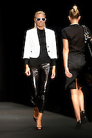 Model Lisa Jonholt on the catwalk during WHERE2GO's, the fashion magazine IN's and Magasin's &quot;CFW AW08 Trendshow - About Fashion and Personal Style&quot;. Copenhagen Fashion Week. Radhushallen, Copenhagen, Denmark. <br />