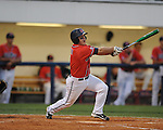 Mississippi's Zach Miller vs. Auburn during a college baseball game in Oxford, Miss. on Thursday, May 20, 2010.  (AP Photo/Oxford Eagle, Bruce Newman)