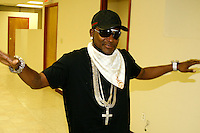 """Shawty Lo pictured at the """"Out Here Grinding"""" Video Shoot for DJ Khaled in Green Point, Brooklyn, New York City on June 3, 2008.  ©Walik Goshorn / MediaPunch"""