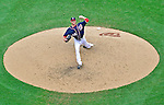 3 September 2012: Washington Nationals pitcher Ross Detwiler on the mound against the Chicago Cubs at Nationals Park in Washington, DC. The Nationals edged out the visiting Cubs 2-1, in the first game of heir 4-game series. Mandatory Credit: Ed Wolfstein Photo