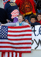 USA young fans during their Algarve Women's Cup soccer match final against Germany at Algarve stadium in Faro, March 13, 2013.  .Paulo Cordeiro/ISI
