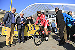 Jonas Van Genechten (BEL) Cofidis at sign on for the 115th edition of the Paris-Roubaix 2017 race running 257km Compiegne to Roubaix, France. 9th April 2017.<br /> Picture: Eoin Clarke | Cyclefile<br /> <br /> <br /> All photos usage must carry mandatory copyright credit (&copy; Cyclefile | Eoin Clarke)