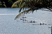 Hamilton, NEW ZEALAND.  GV's, General view of the starting area, with a repechage of the lightweight men's pair, in progress. Tuesday - 02.11.2010, [Mandatory Credit Peter Spurrier:Intersport Images].