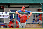 9 March 2012: Philadelphia Phillies Manager Charlie Manuel watches play from the dugout during a Spring Training game against the Detroit Tigers at Joker Marchant Stadium in Lakeland, Florida. The Phillies defeated the Tigers 7-5 in Grapefruit League action. Mandatory Credit: Ed Wolfstein Photo