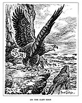 On the Cliff Edge. (The American Eagle appears ready to launch across the Atlantic after shredding the Axis Overtures)