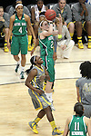 03 APR 2012: Natalie Novosel (21) of the University of Notre Dame attempts a jump shot during the Division I Women's Basketball Championship held at the Pepsi Center in Denver, CO. Matt Marriott/NCAA Photos