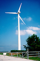 WINDMILLS<br /> Wind Turbine Generates Electricity. Renewable energy from eolian power. Lincoln, NE